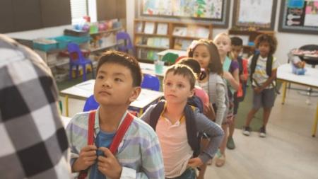 Divisione alunni a scuola