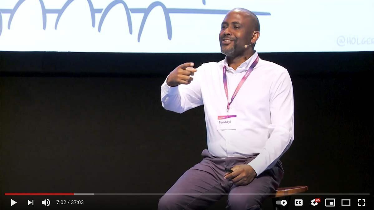 Screengrab from a talk by Tendayi Viki at Innov8rs Conference