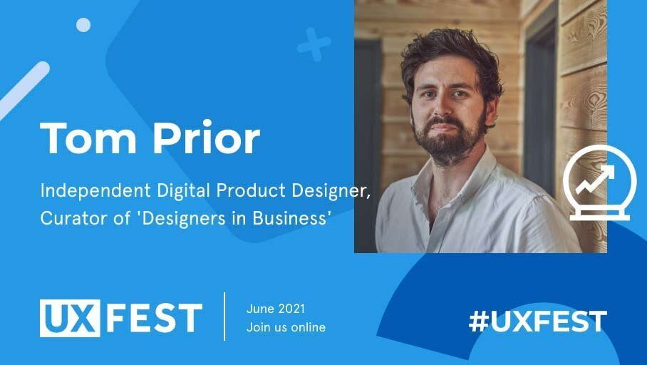 Screenshot from talk promotion advert for UX Fest